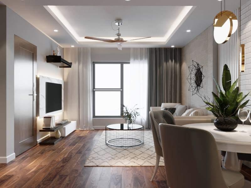 Thiết kế thi công nội thất chung cư 2PN dự án Florence Mỹ Đình