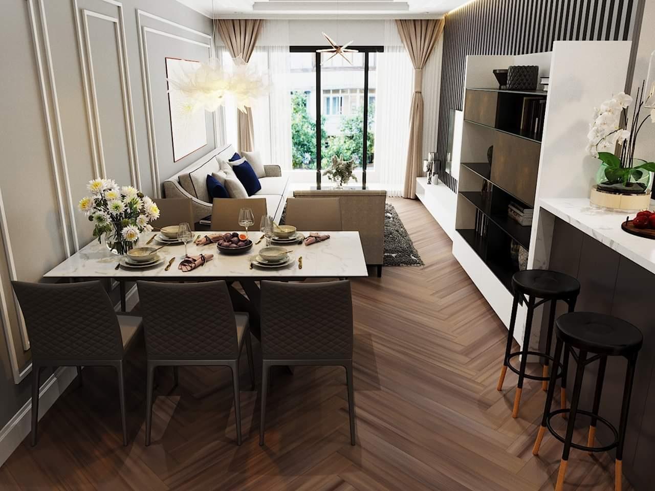 Thiết kế thi công nội thất chung cư cao cấp 3PN tại  D'Capital