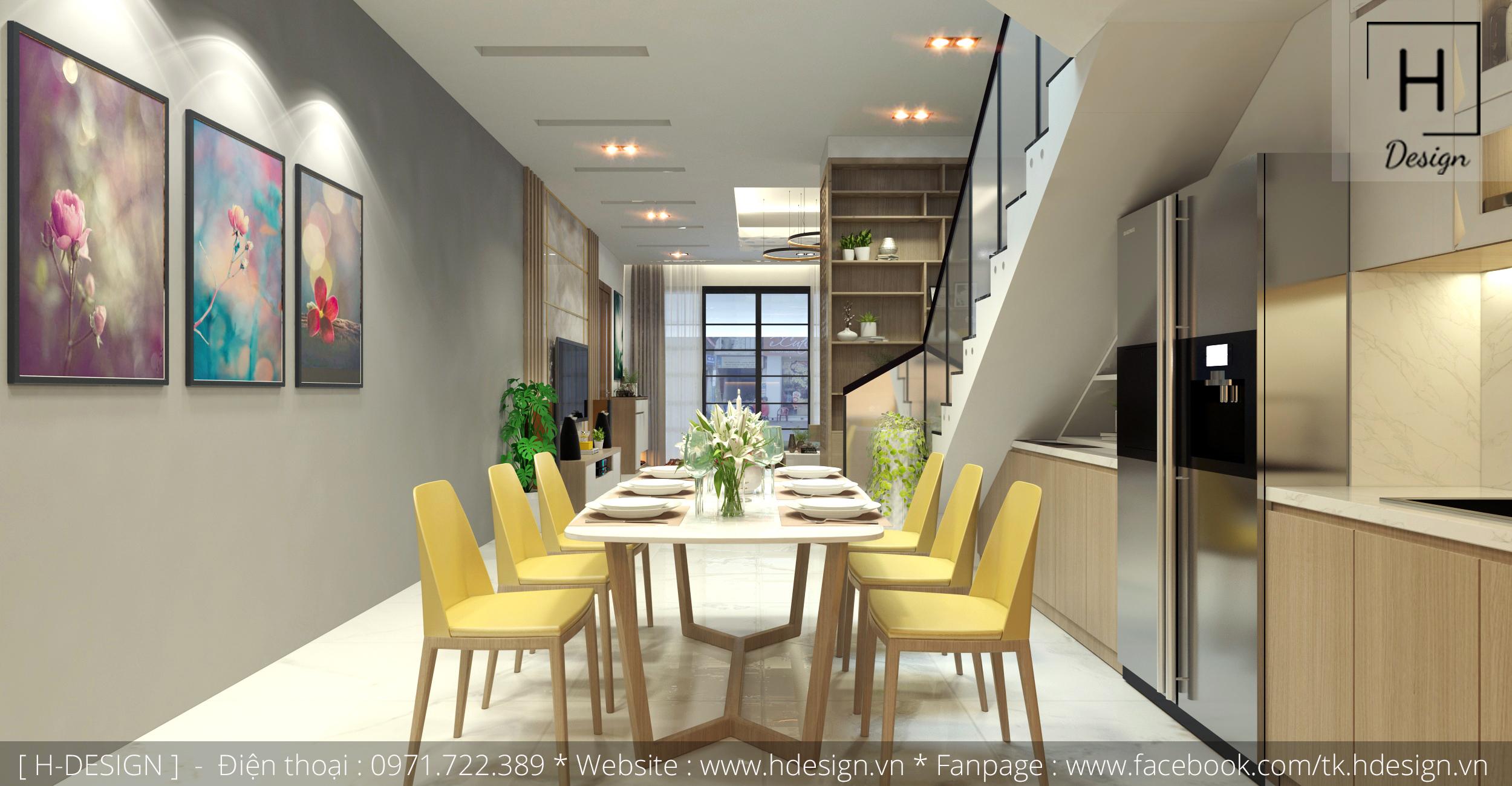 Thiết kế thi công nội thất nhà phố đẹp tại Mễ Trì - Hà Nội 8