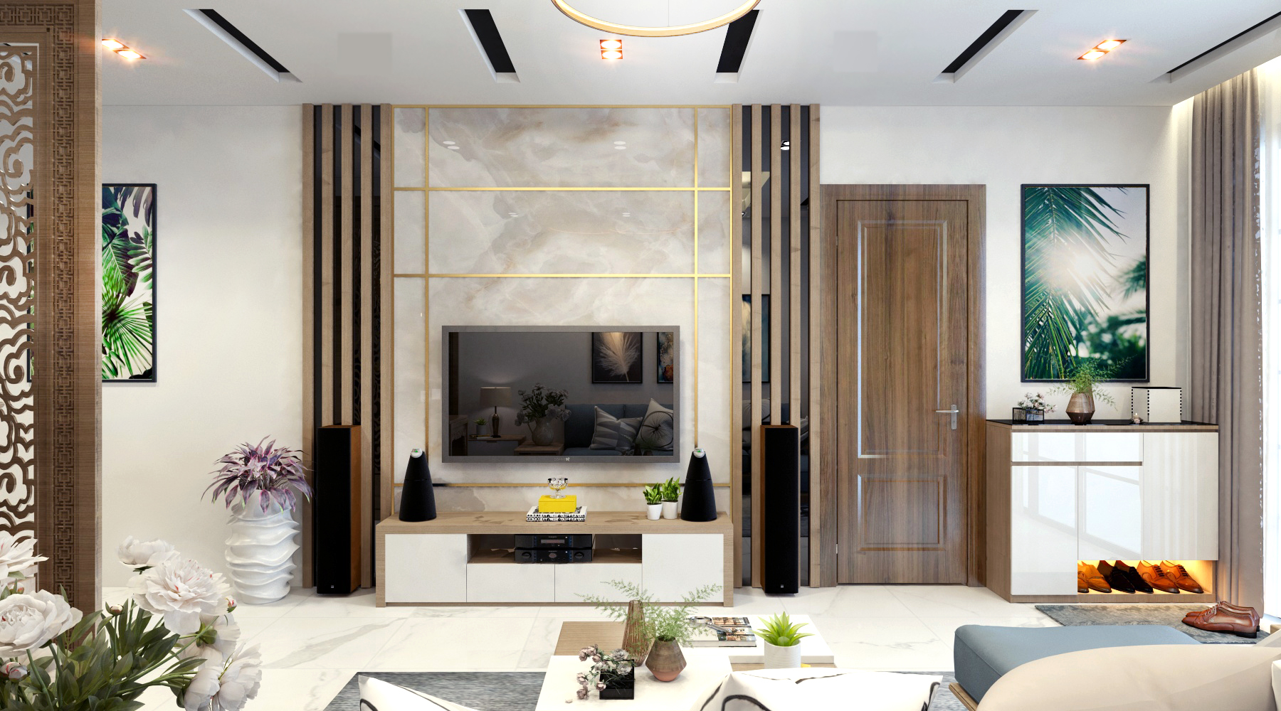 Thiết kế thi công nội thất nhà phố Mễ Trì – Hà Nội