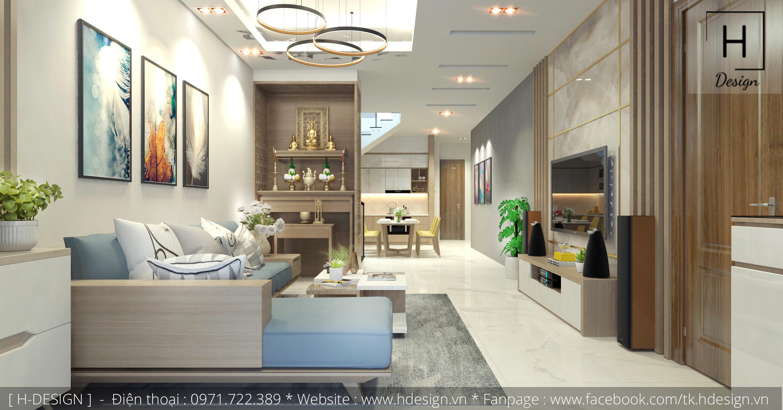 Thiết kế thi công nội thất nhà phố đẹp tại Mễ Trì - Hà Nội 2