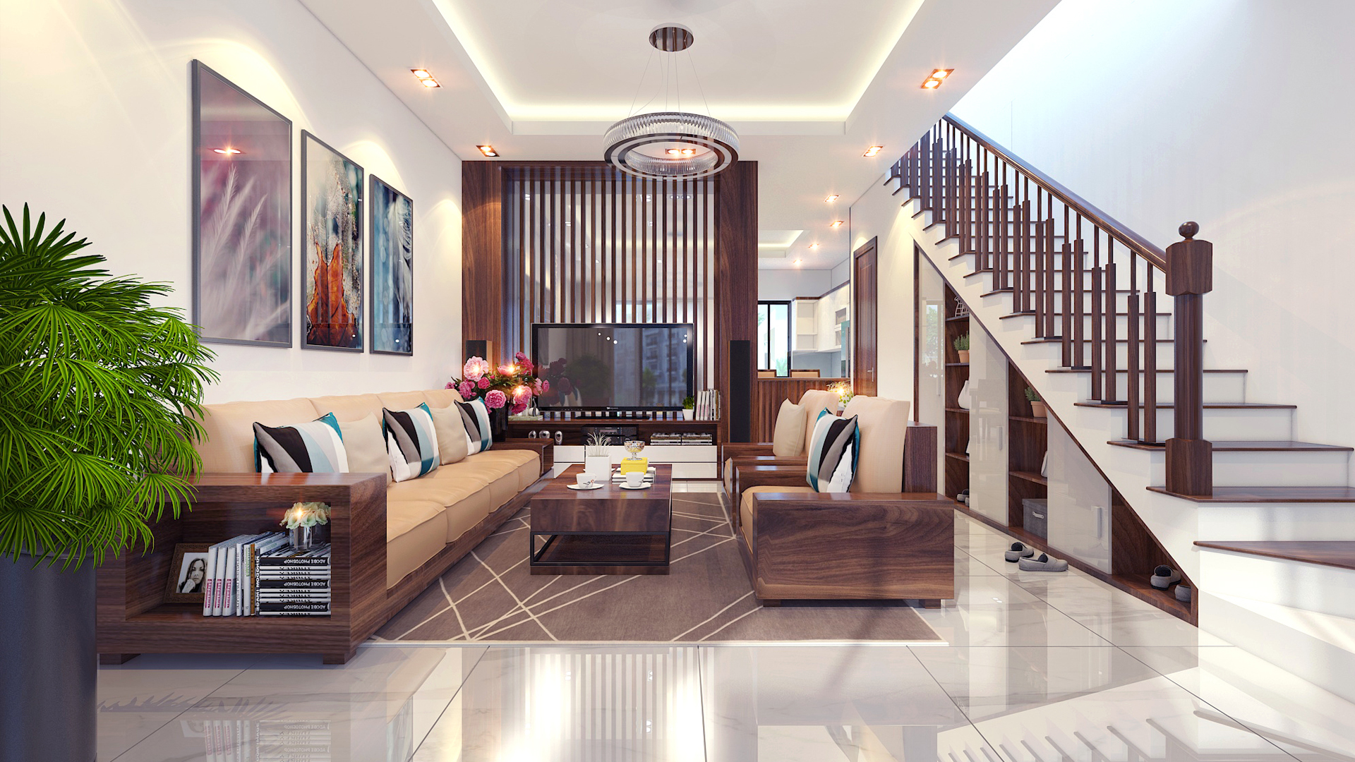 Thiết kế thi công nội thất nhà phố Tây Hồ – Hà Nội