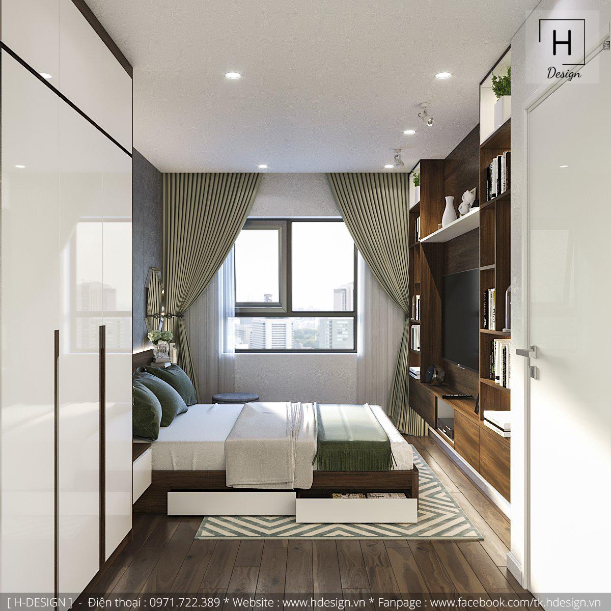 Nội thất phòng ngủ cho căn hộ Kosmo Tây Hồ
