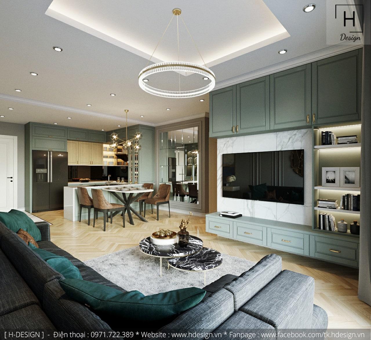 Thiết kế thi công nội thất chung cư Kosmo tại Hà Nội 2