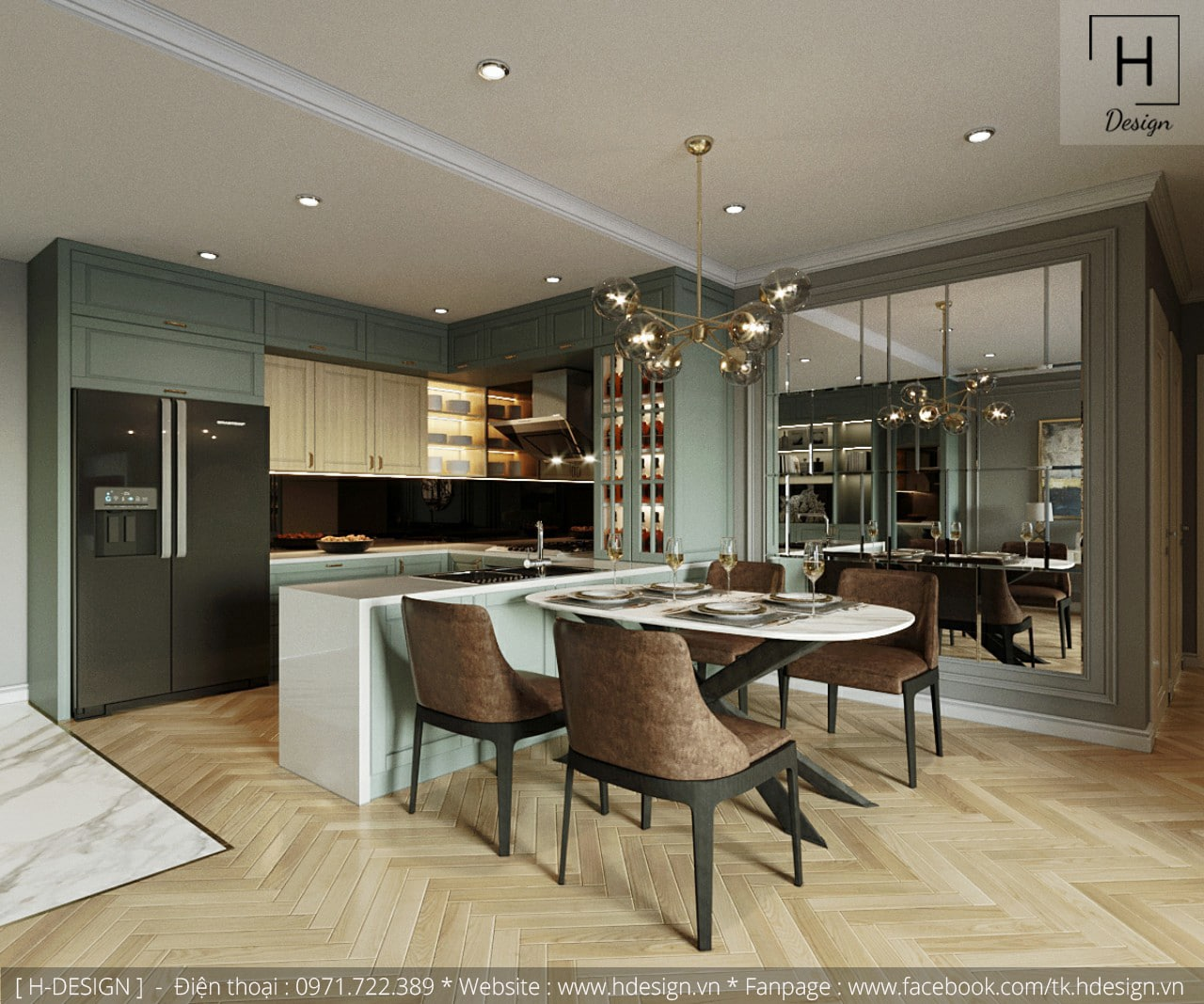 Thiết kế thi công nội thất chung cư Kosmo tại Hà Nội 4