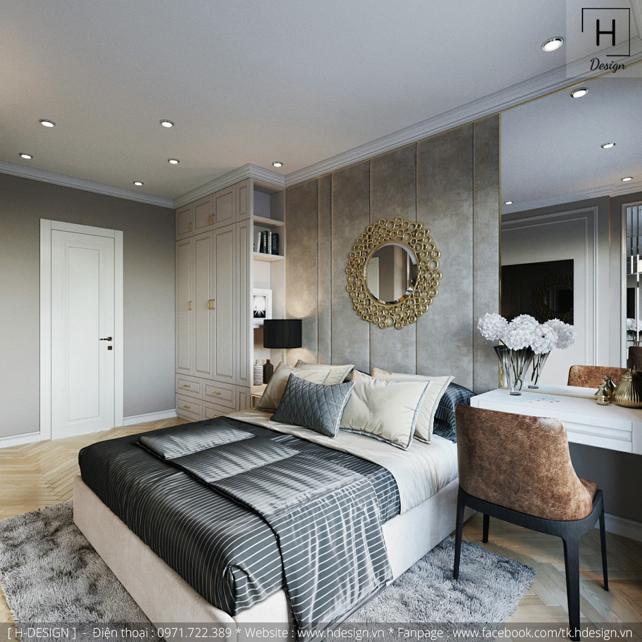 Thiết kế thi công nội thất chung cư Kosmo tại Hà Nội 5
