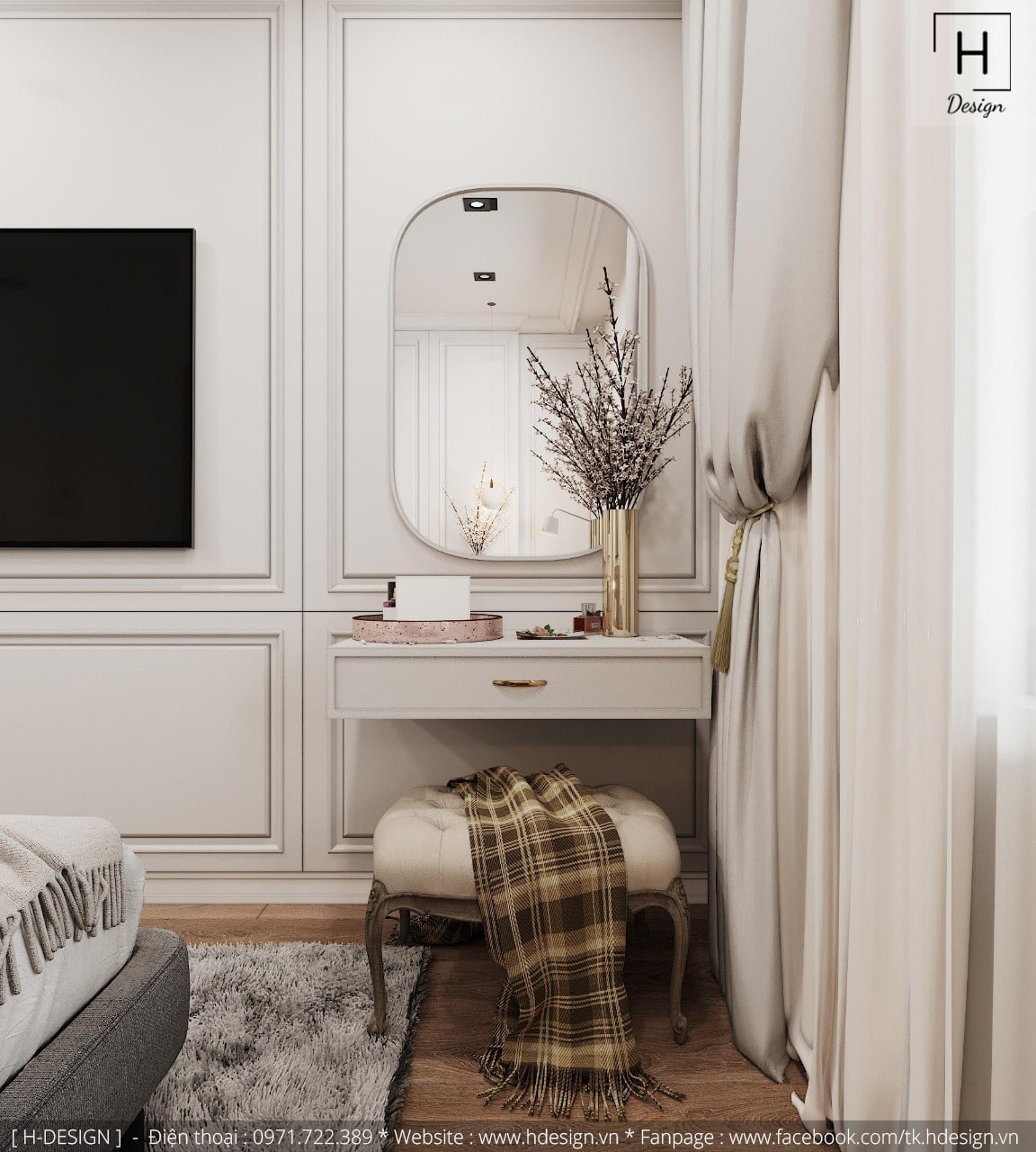 Thiết kế thi công nội thất đẹp cho căn hộ chung cư 86m2 -09