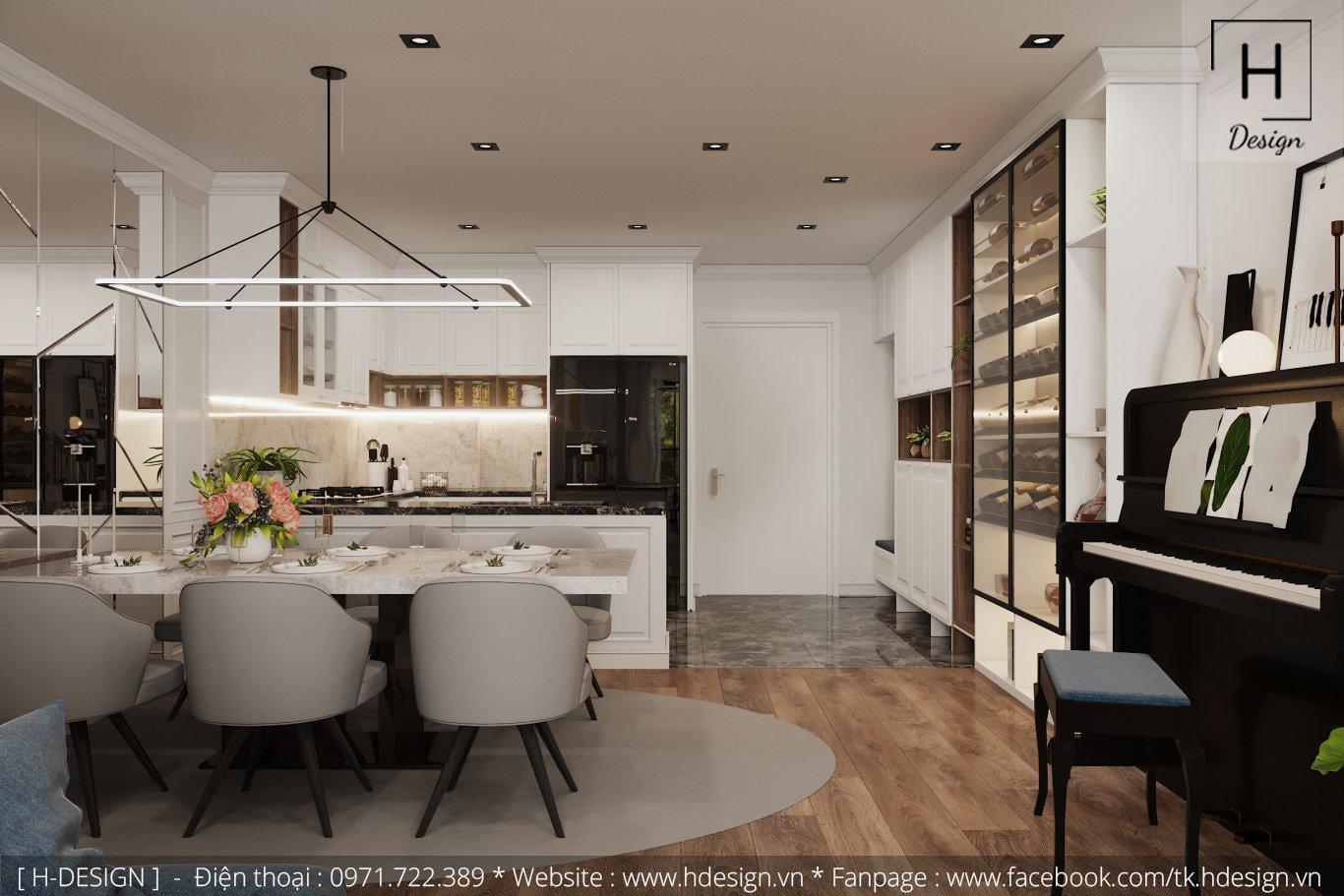 Thiết kế thi công nội thất đẹp cho căn hộ chung cư 86m2 -04