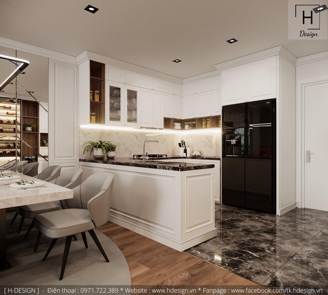Thiết kế thi công nội thất đẹp cho căn hộ chung cư 86m2 -02