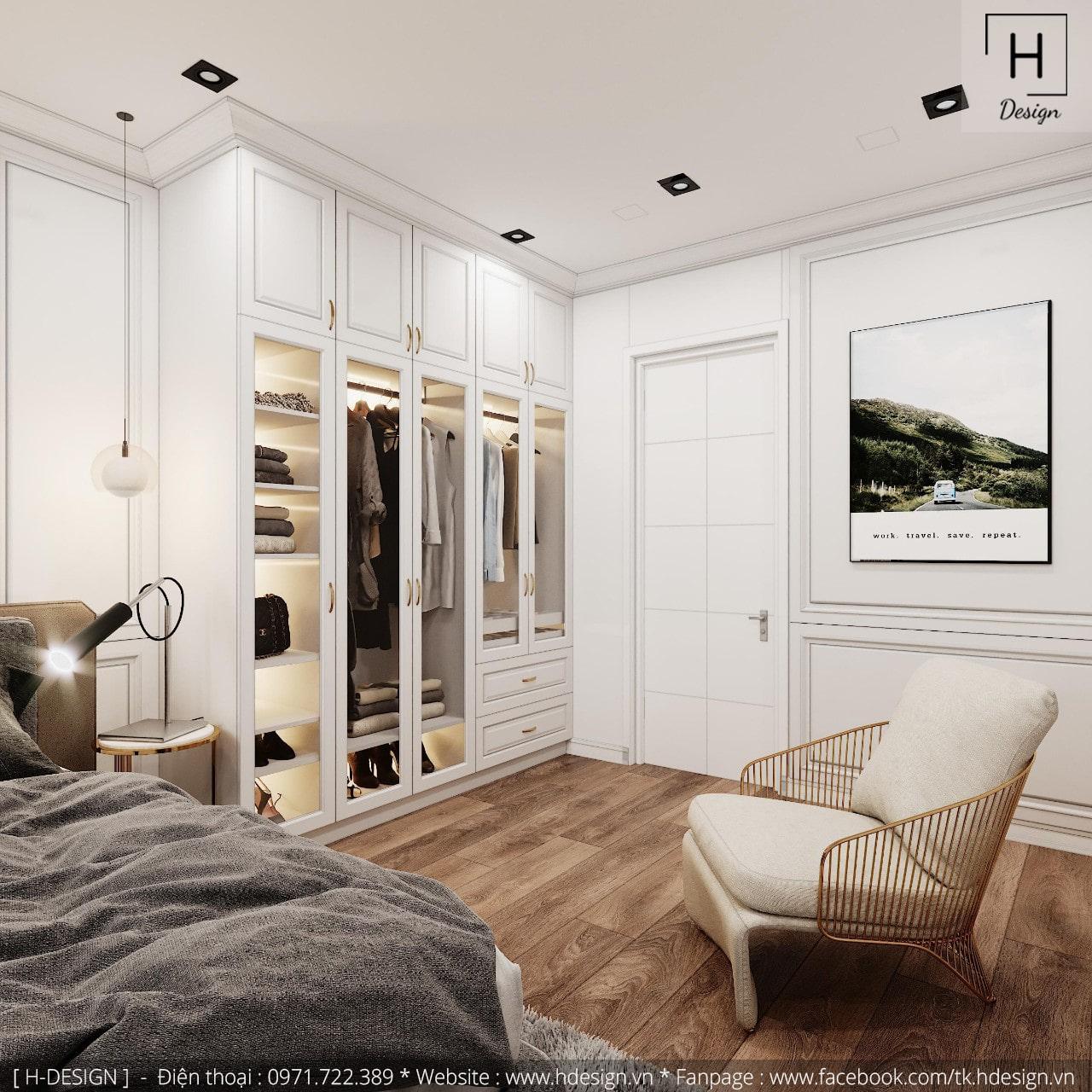 Thiết kế thi công nội thất đẹp cho căn hộ chung cư 86m2 -07