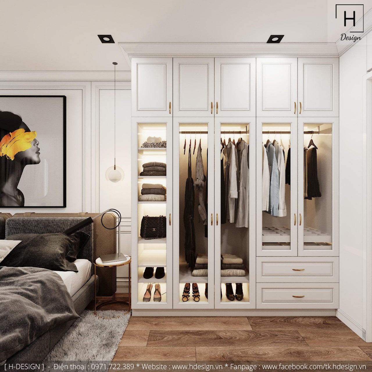 Thiết kế thi công nội thất đẹp cho căn hộ chung cư 86m2 -06