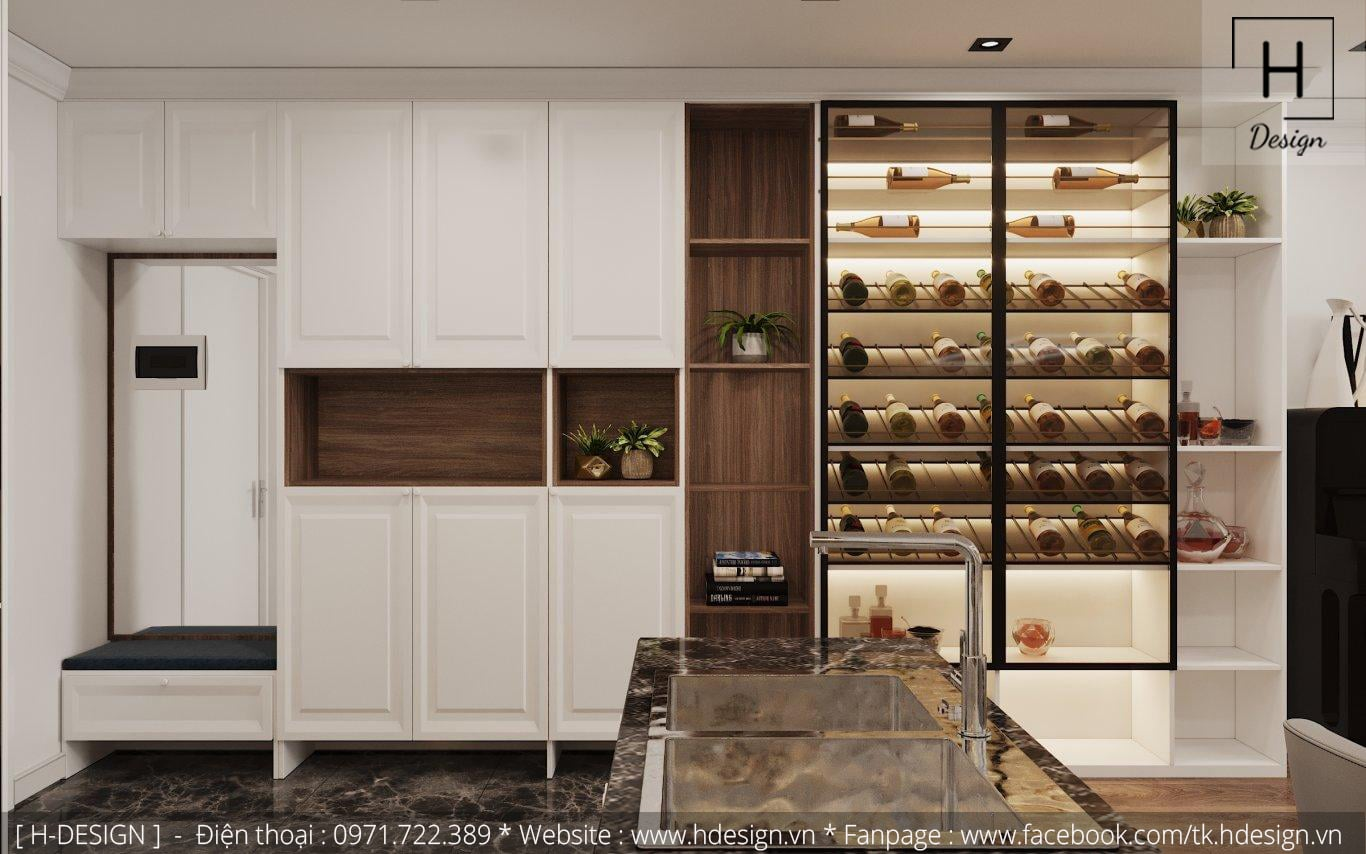 Thiết kế thi công nội thất đẹp cho căn hộ chung cư 86m2 -05