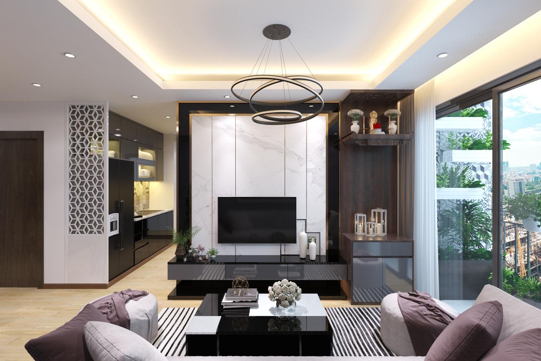 Thiết kế căn hộ chung cư 90 Nguyễn Tuân phong cách hiện đại trẻ chung