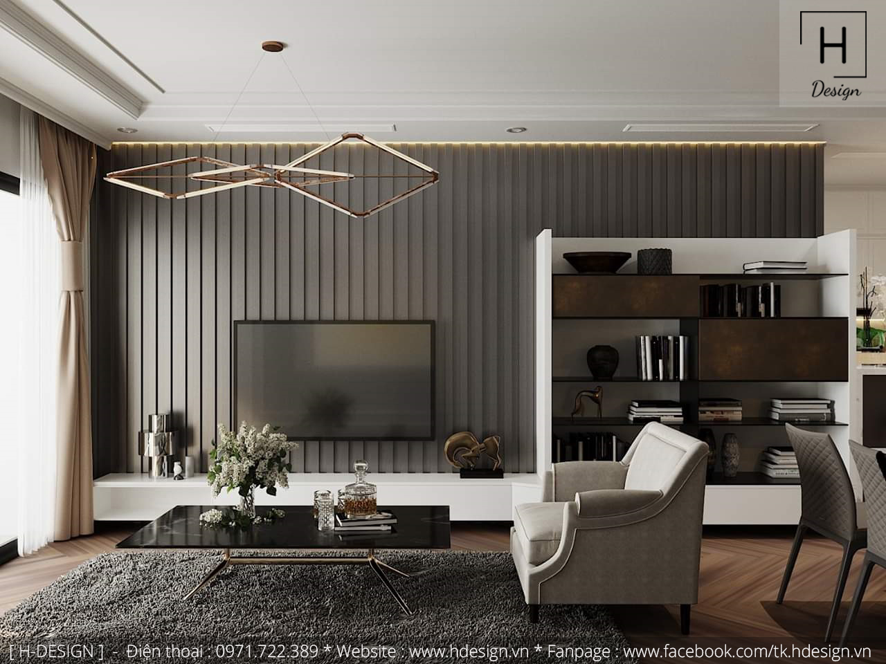 Thiết kế thi công nội thất chung cư D'Capital 3