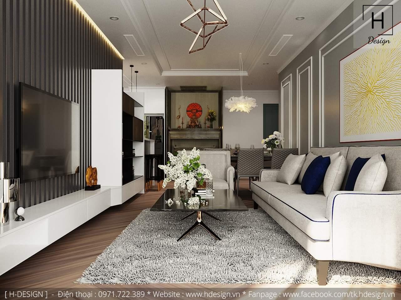 Thiết kế thi công nội thất chung cư D'Capital