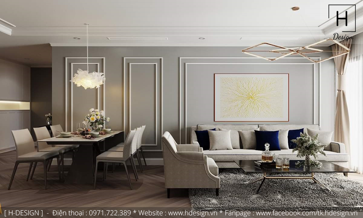Thiết kế thi công nội thất chung cư D'Capital 2