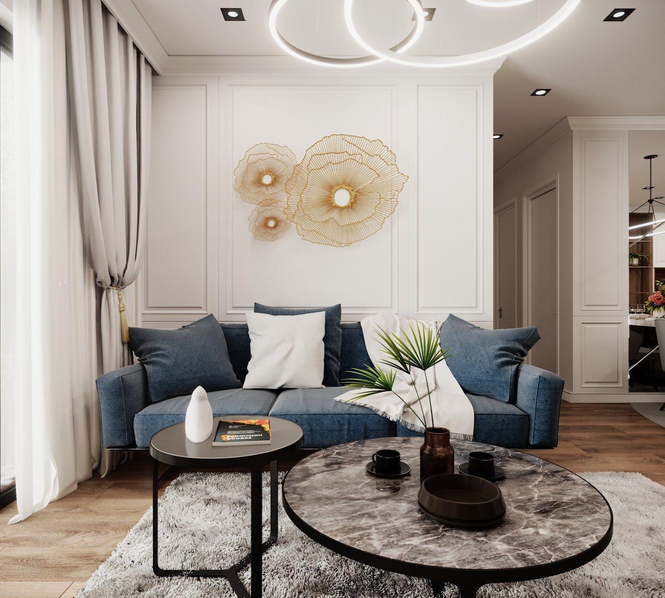 Thiết kế nội thất căn hộ chung cư 86m2 tại Kosmo Tây Hồ
