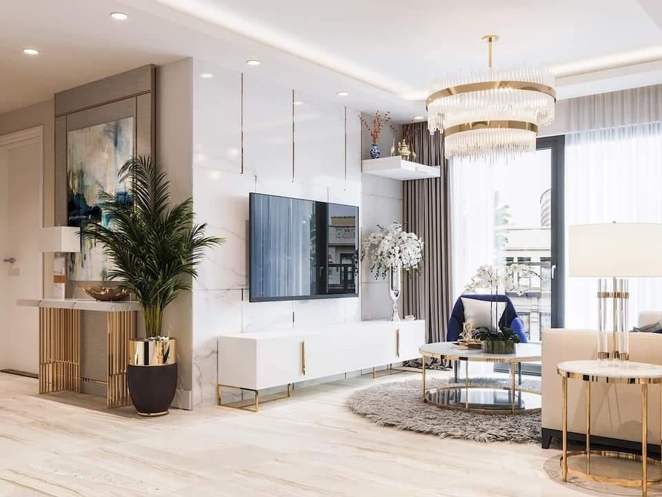 Mẫu thiết kế thi công nội thất căn hộ chung cư 90 m2 đẹp tại Hà Nội
