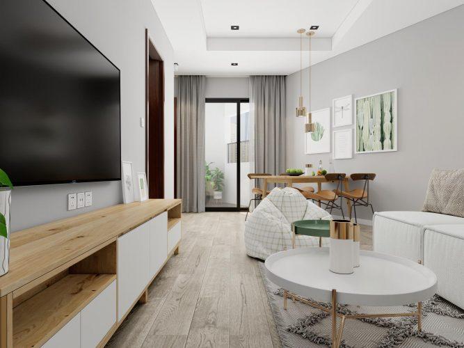 Mẫu nội thất căn hộ 2 phòng ngủ đẹp giá rẻ tại Hà Nội