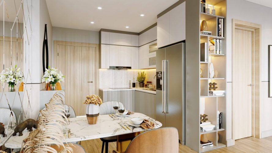 Thiết kế nội thất chung cư 2PN Vinhomes Ocean Park