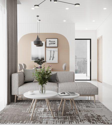 Thiết kế nội thất căn hộ Vinhomes Smart City 60m2