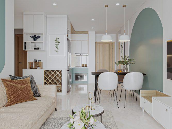 Thiết kế nội thất căn hộ chung cư 2 PN tại Vinhomes Smart City