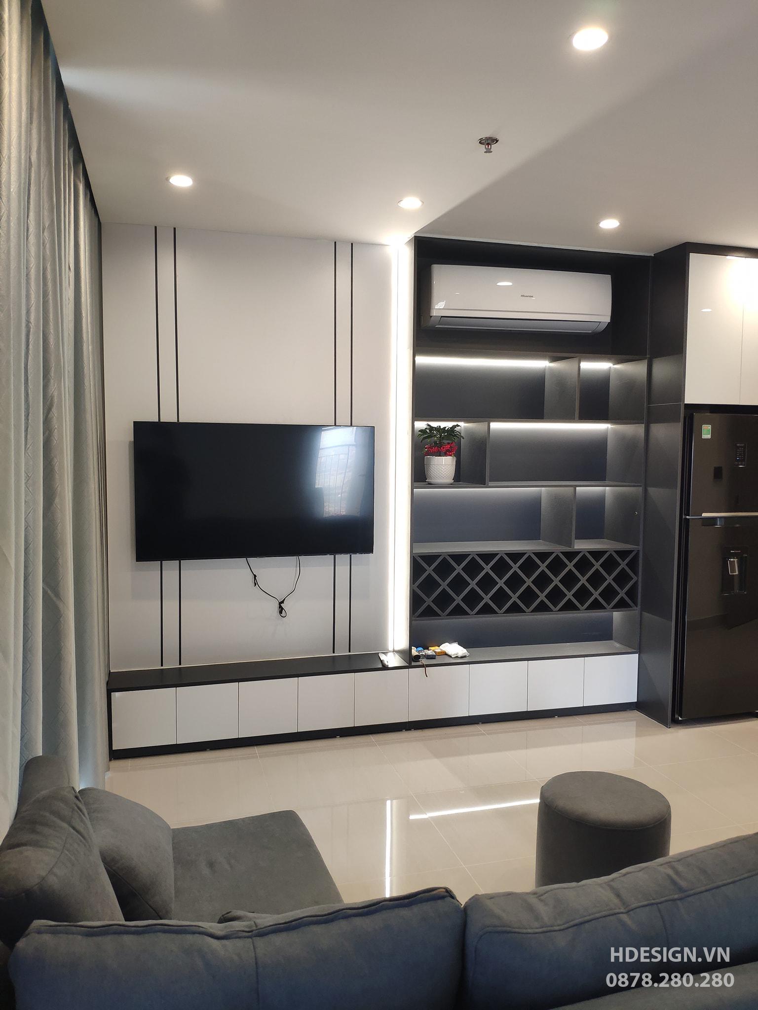 You are currently viewing Thi công lắp đặt hoàn thiện nội thất căn hộ 2PN+1 dự án Vinhomes Smart City