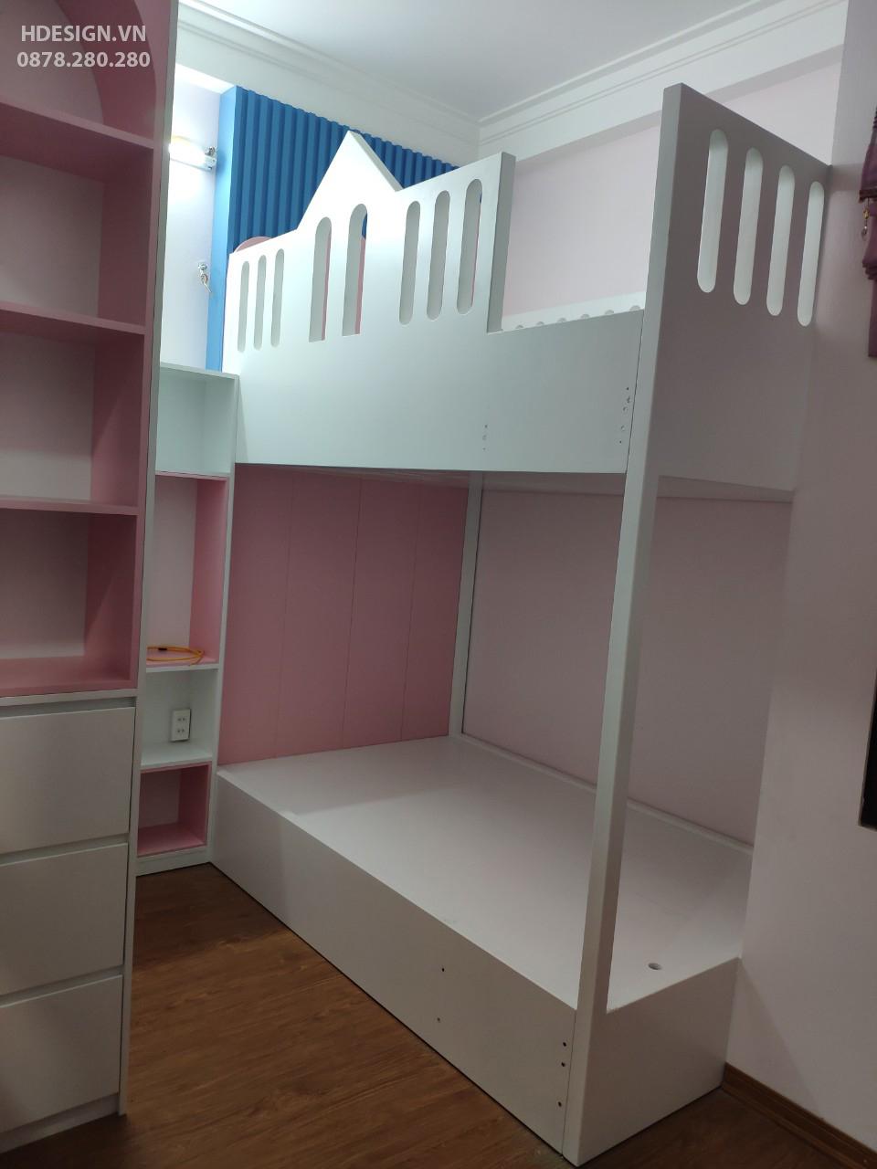 You are currently viewing Sản xuất lắp đặt nội thất phòng ngủ bé gái tại Hà Đông